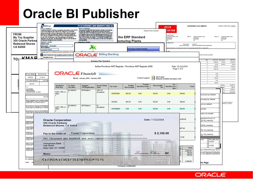 Oracle BI Publisher Many, many, many Standard Reports
