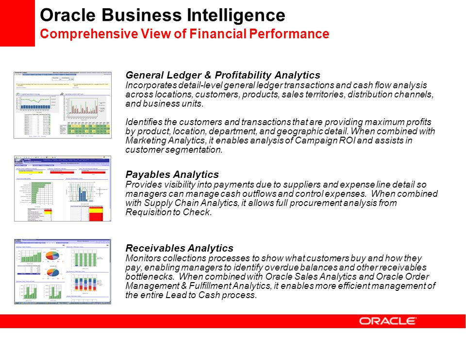 Oracle Business Intelligence Comprehensive View of Financial Performance