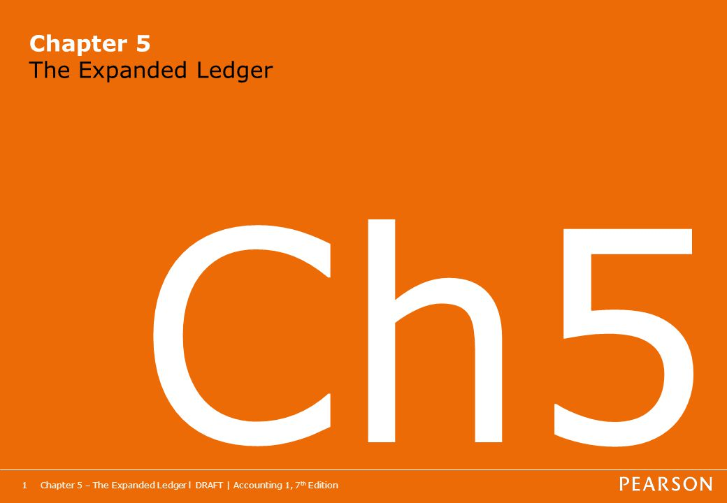 Chapter 5 The Expanded Ledger