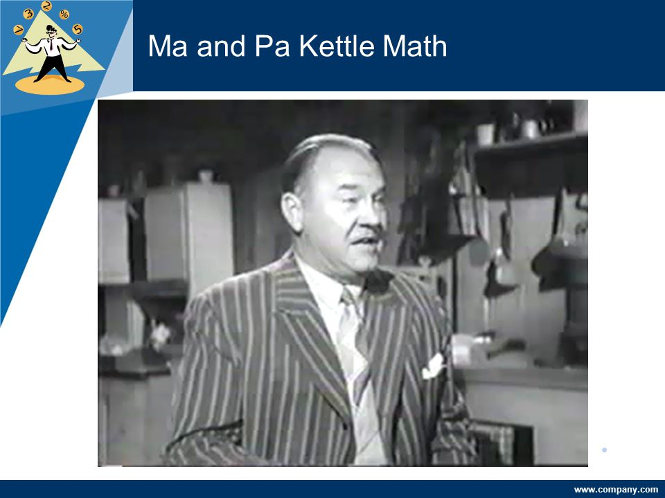 Ma and Pa Kettle Math