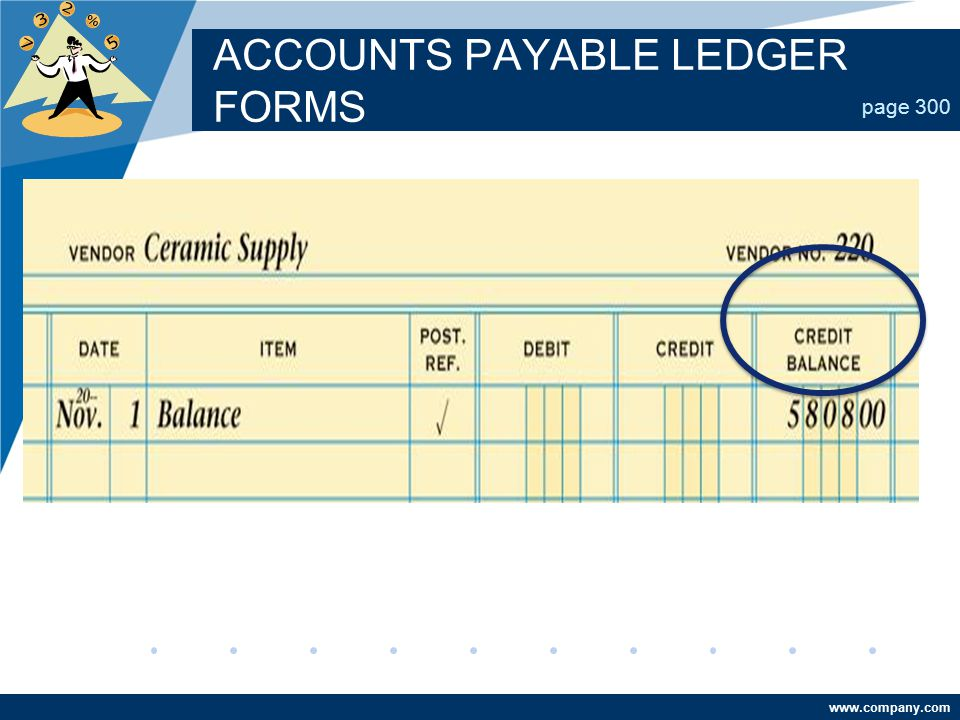ACCOUNTS PAYABLE LEDGER FORMS