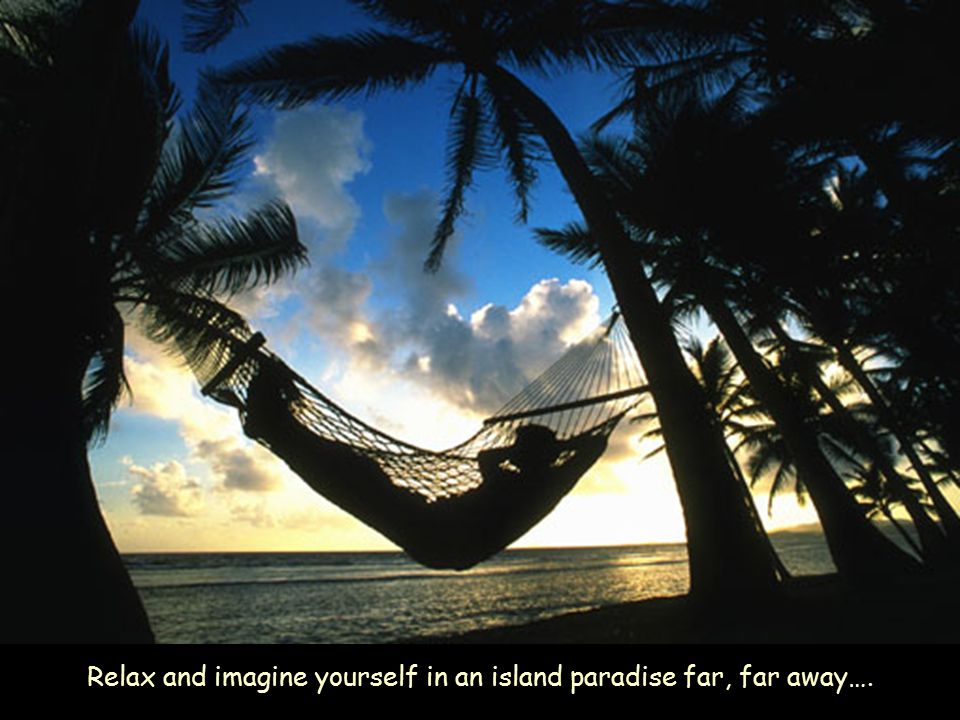 Relax and imagine yourself in an island paradise far, far away….