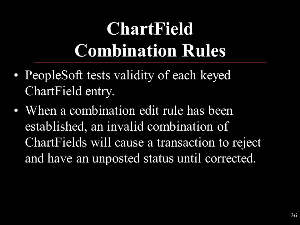 ChartField Combination Rules