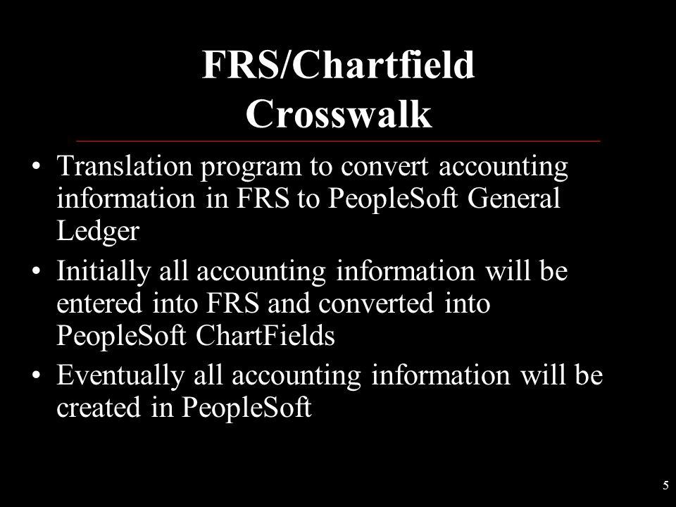 FRS/Chartfield Crosswalk