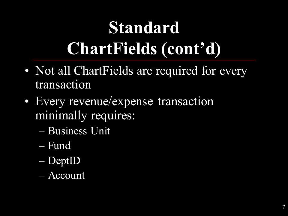 Standard ChartFields (cont'd)