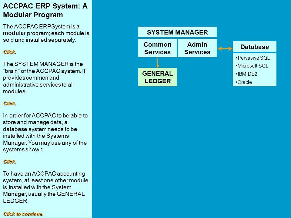 ACCPAC ERP System: A Modular Program
