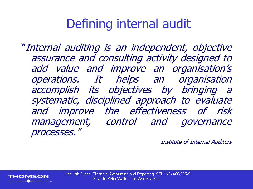 Defining internal audit