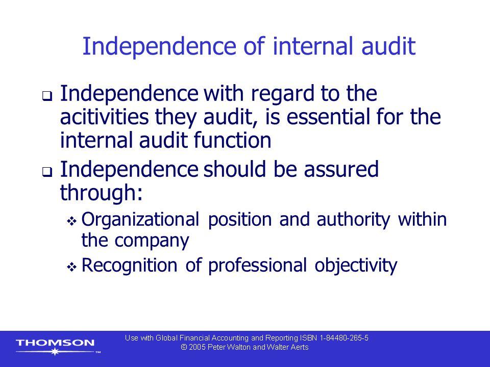 Independence of internal audit
