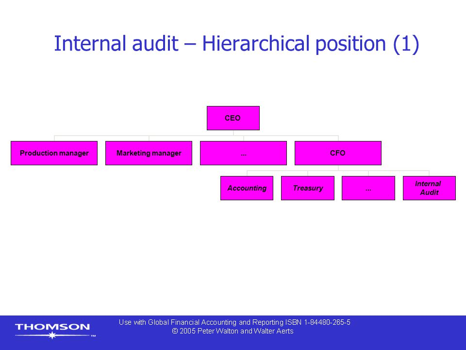 Internal audit – Hierarchical position (1)
