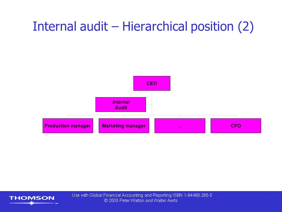 Internal audit – Hierarchical position (2)