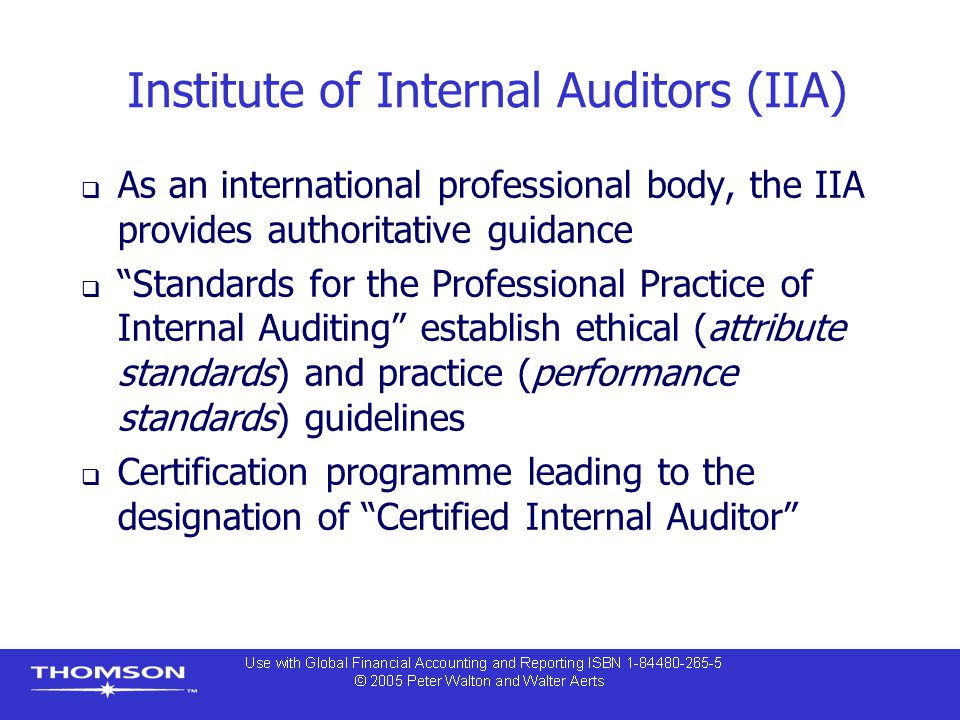 Institute of Internal Auditors (IIA)