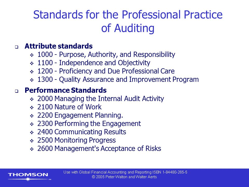 Standards for the Professional Practice of Auditing