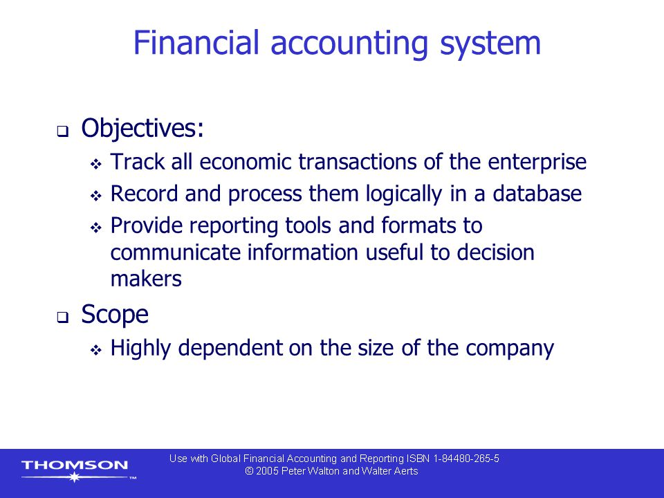 Financial accounting system