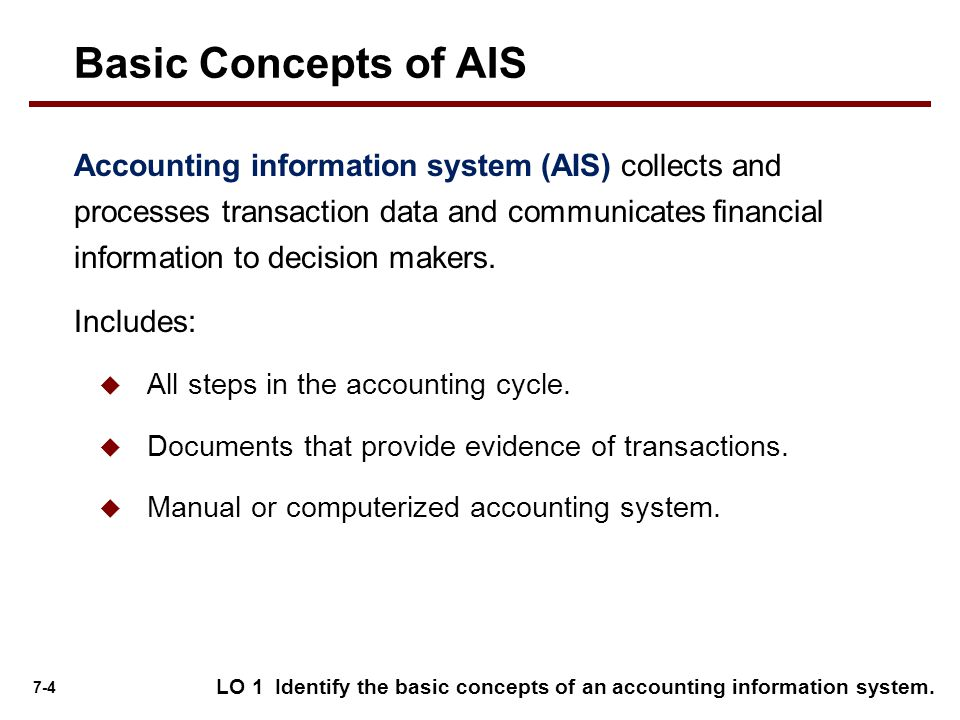 Basic Concepts of AIS