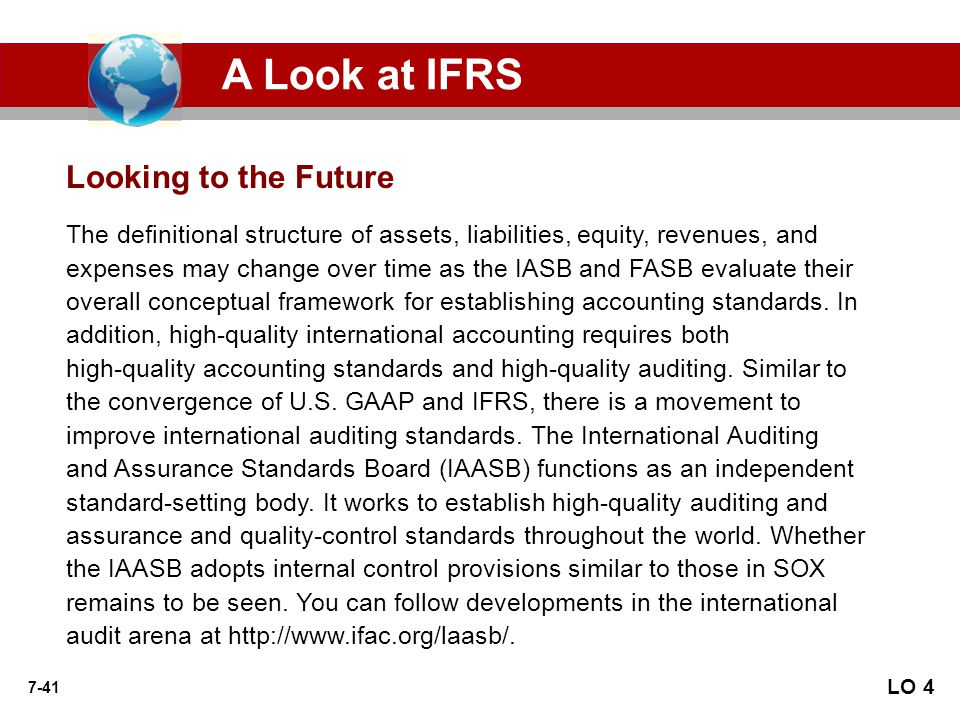 A Look at IFRS Looking to the Future