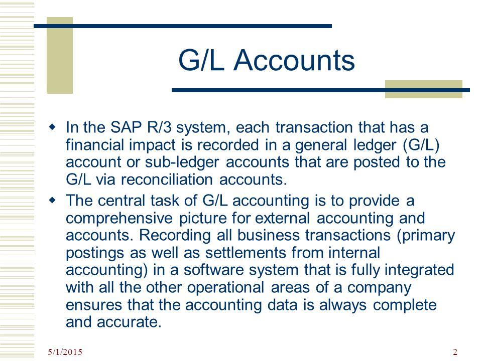 G/L Accounts