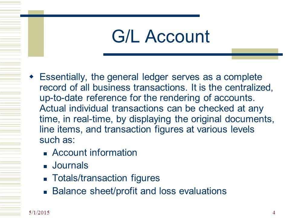 G/L Account