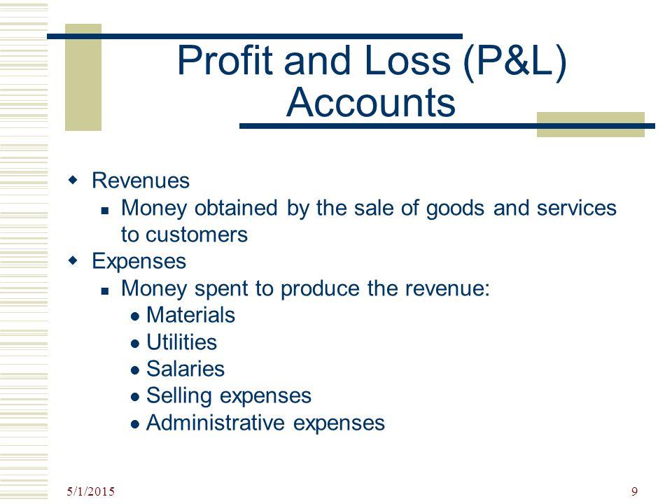 Profit and Loss (P&L) Accounts