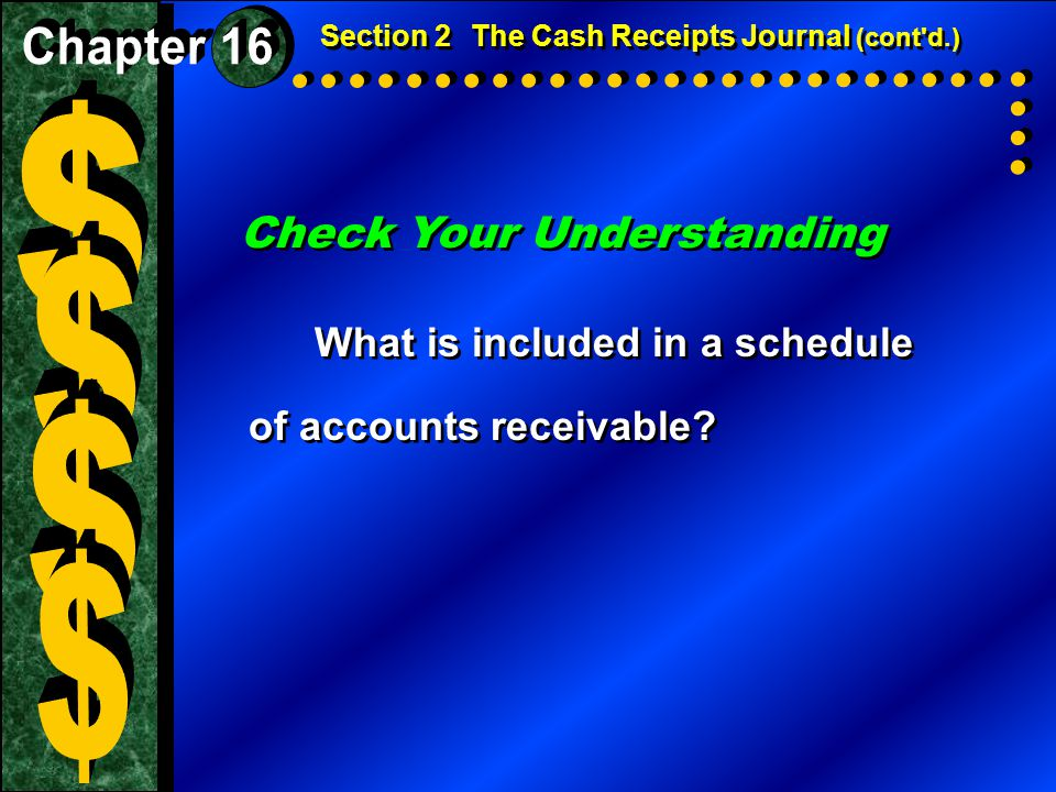 $ $ $ $ Check Your Understanding Chapter 16