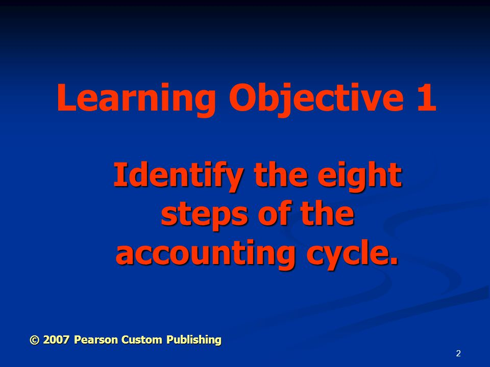 Identify the eight steps of the accounting cycle.