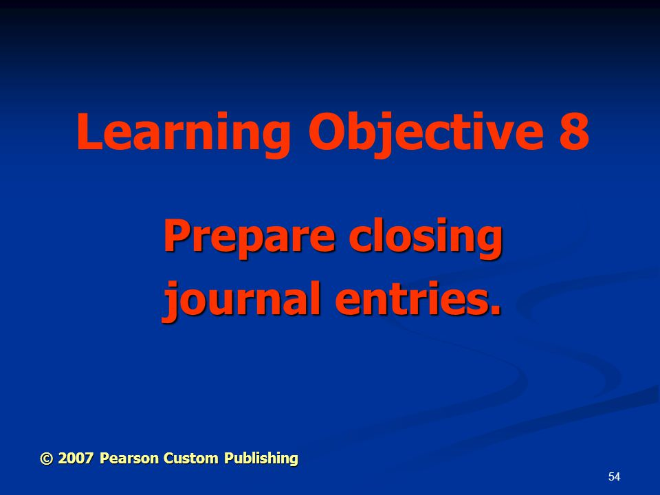 Prepare closing journal entries.