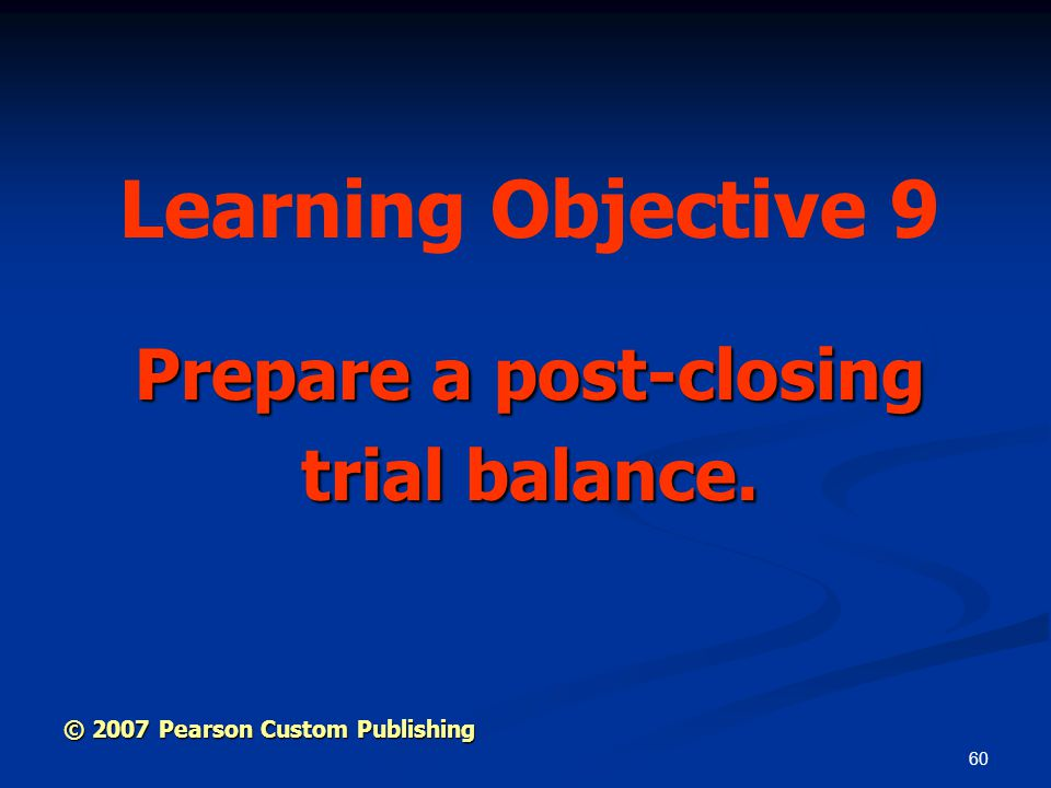 Prepare a post-closing trial balance.