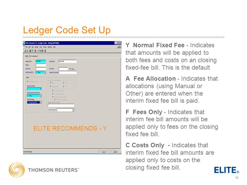 Ledger Code Set Up