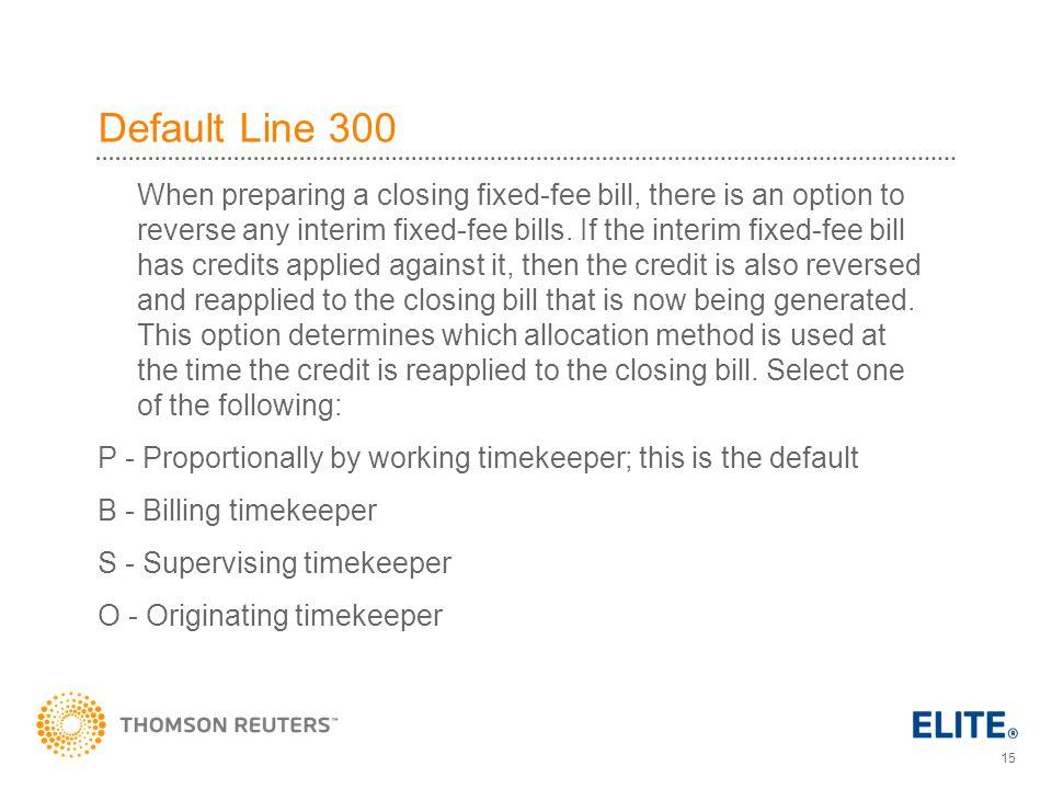 Default Line 300