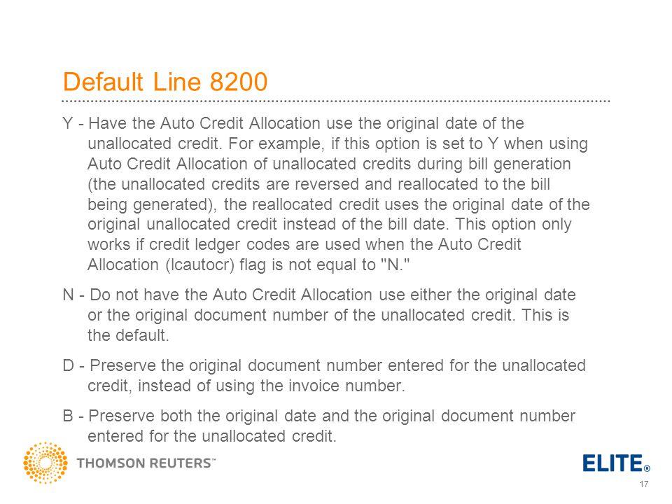 Default Line 8200