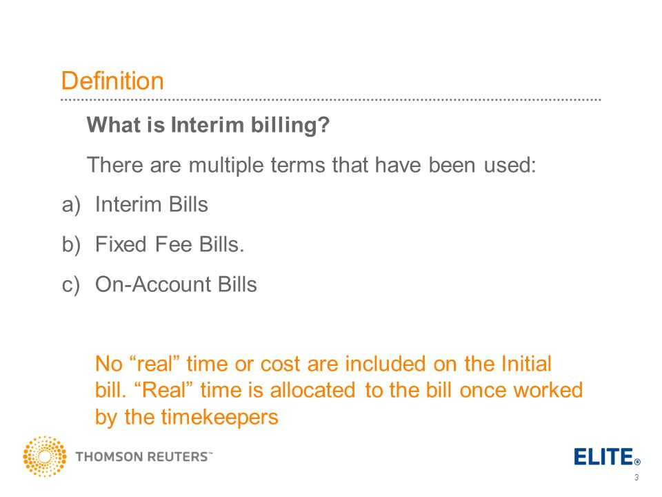 Definition What is Interim billing