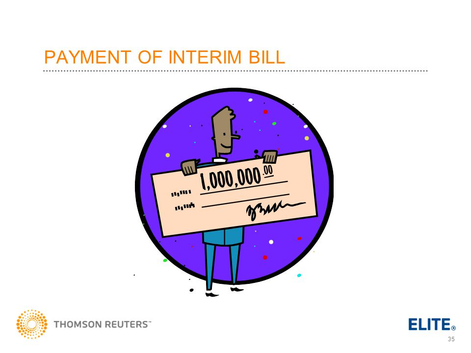 PAYMENT OF INTERIM BILL