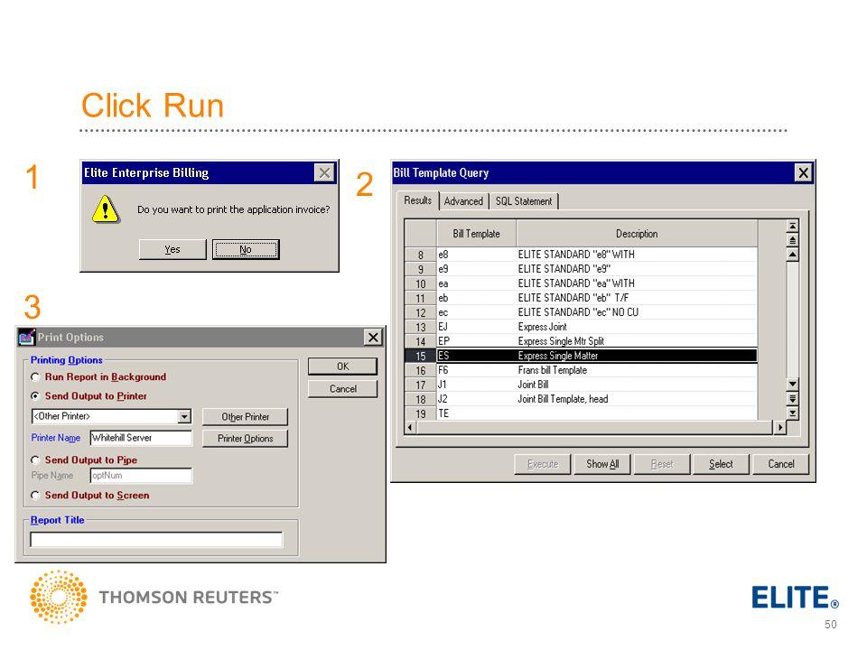 Click Run 1 2 3
