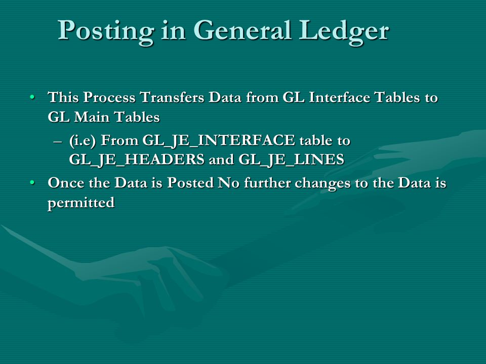 Posting in General Ledger