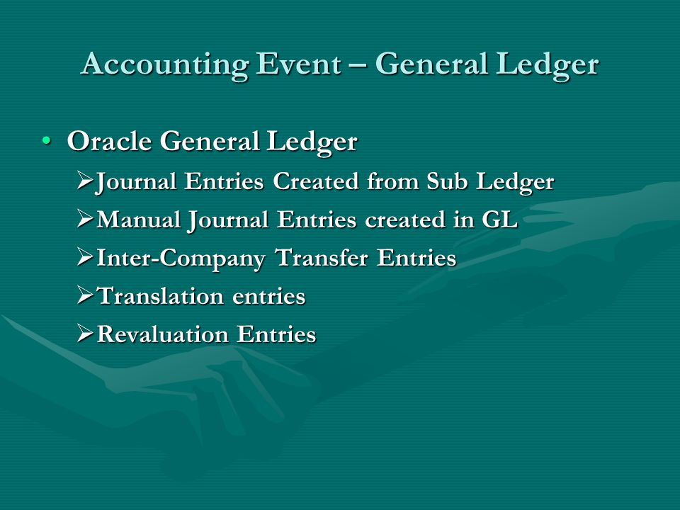 Accounting Event – General Ledger