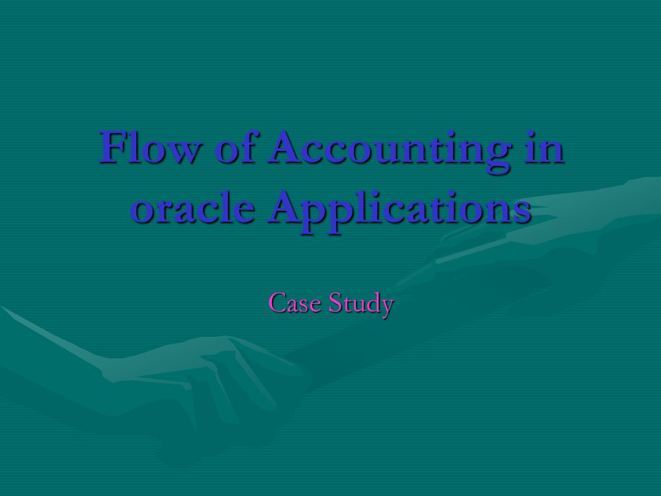 Flow of Accounting in oracle Applications