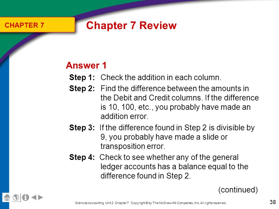 Chapter 7 Review CHAPTER 7. Answer 1.