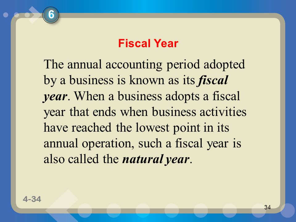 6 Fiscal Year.