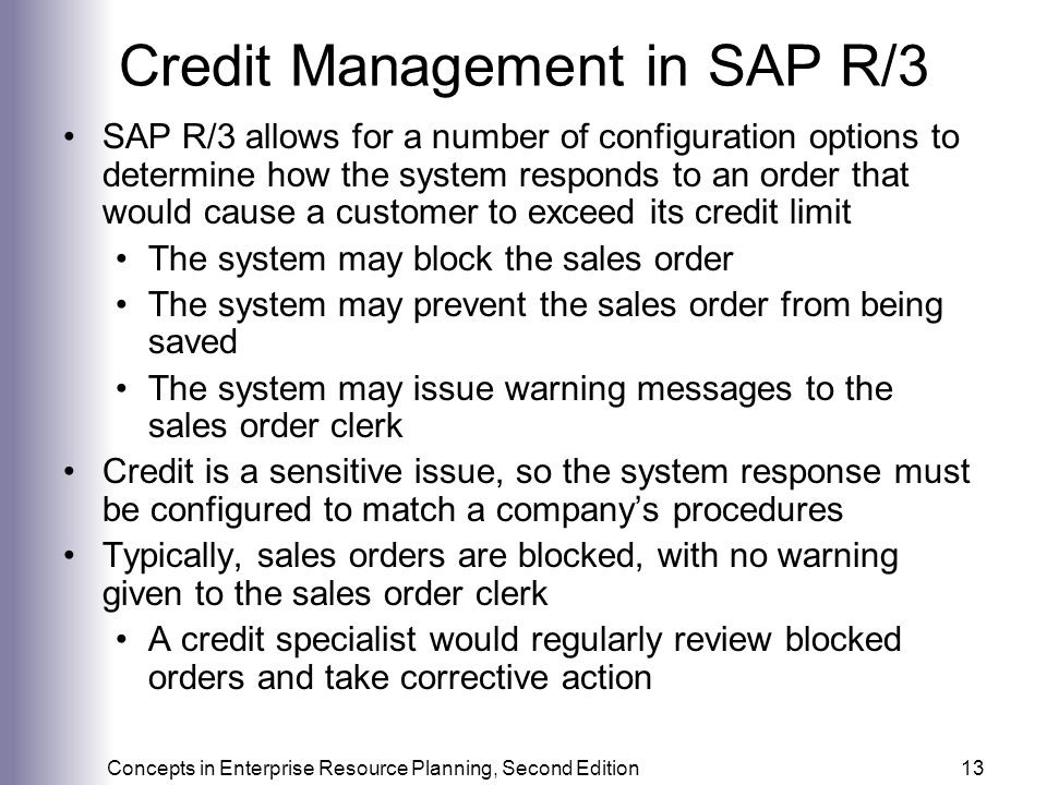 Credit Management in SAP R/3