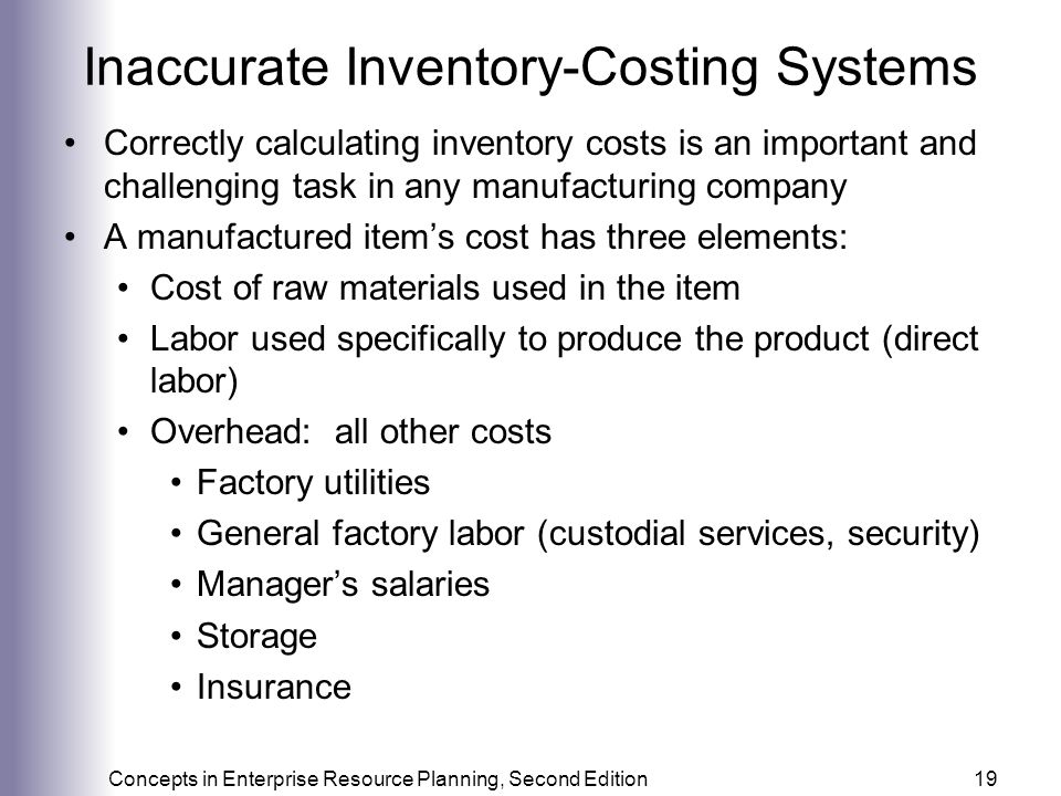 Inaccurate Inventory-Costing Systems