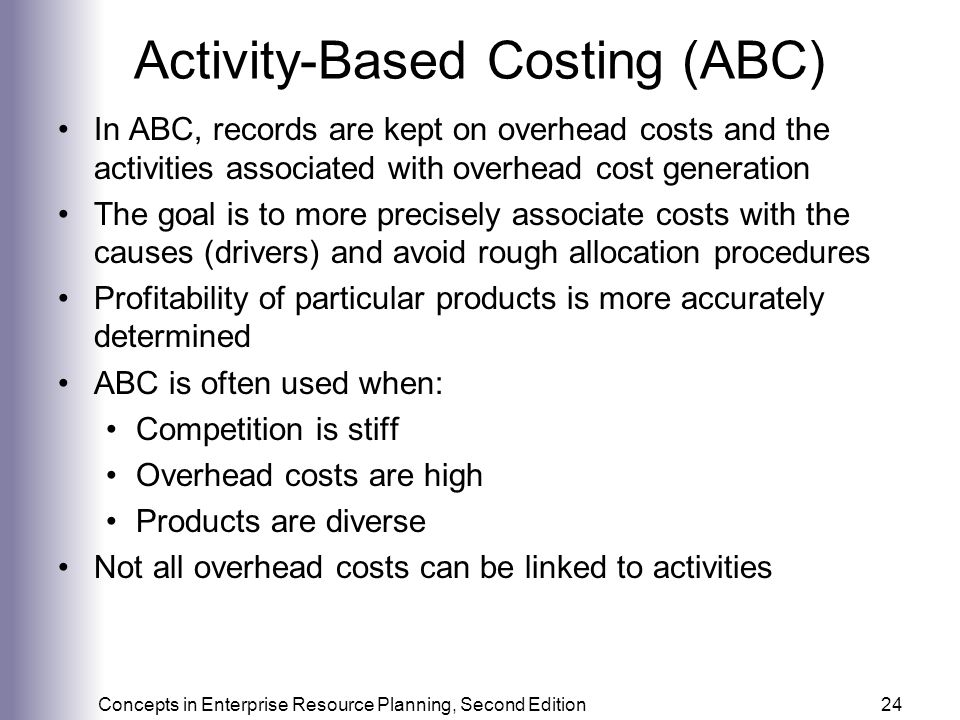 Activity-Based Costing (ABC)