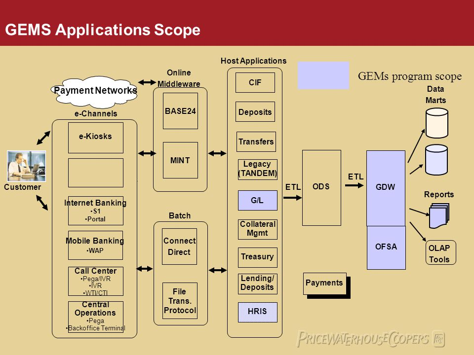 GEMS Applications Scope