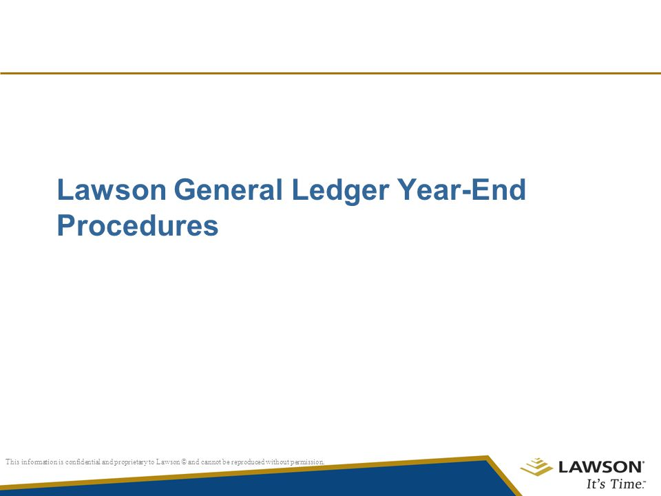Lawson General Ledger Year-End Procedures