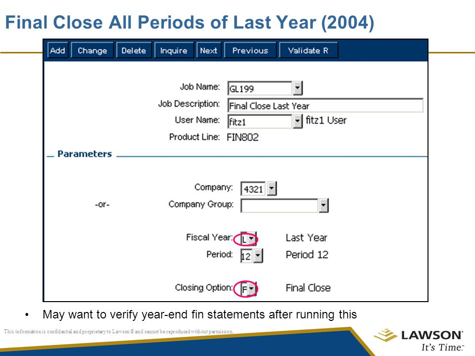 Final Close All Periods of Last Year (2004)