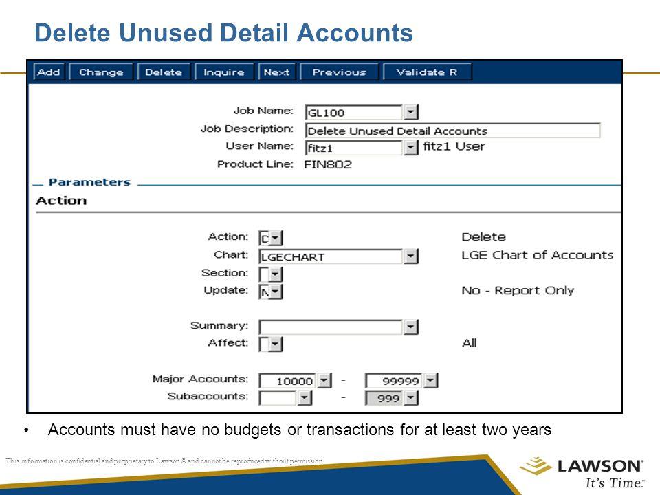 Delete Unused Detail Accounts