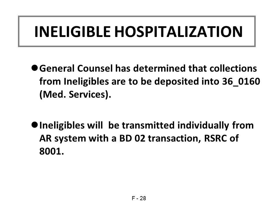 INELIGIBLE HOSPITALIZATION