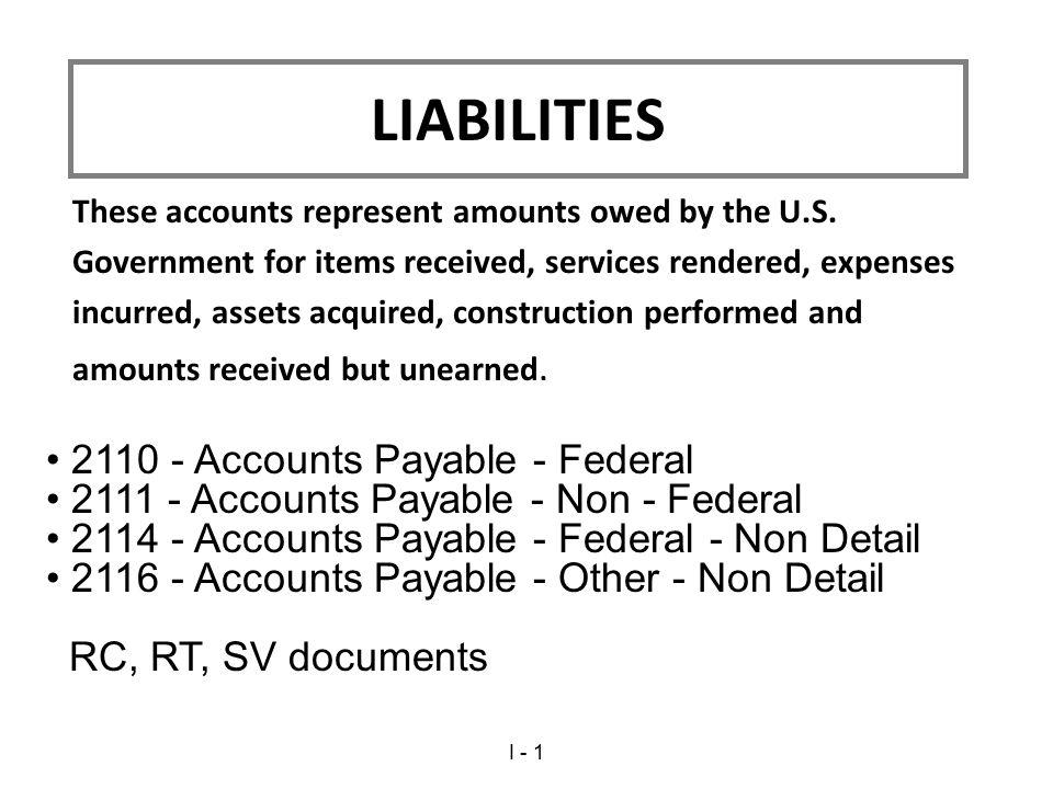 LIABILITIES 2110 - Accounts Payable - Federal