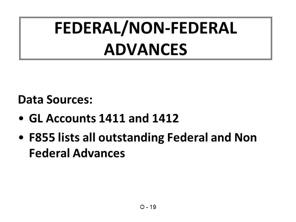FEDERAL/NON-FEDERAL ADVANCES
