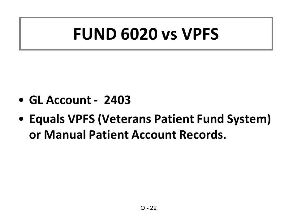 FUND 6020 vs VPFS GL Account - 2403