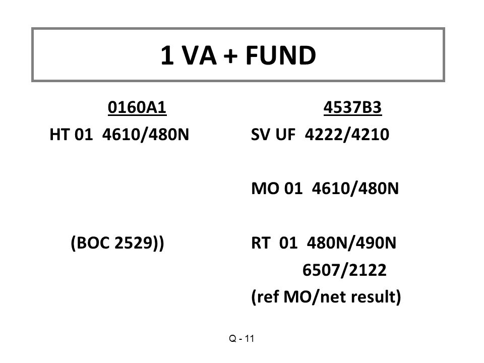 1 VA + FUND 0160A1 HT 01 4610/480N (BOC 2529)) 4537B3 SV UF 4222/4210