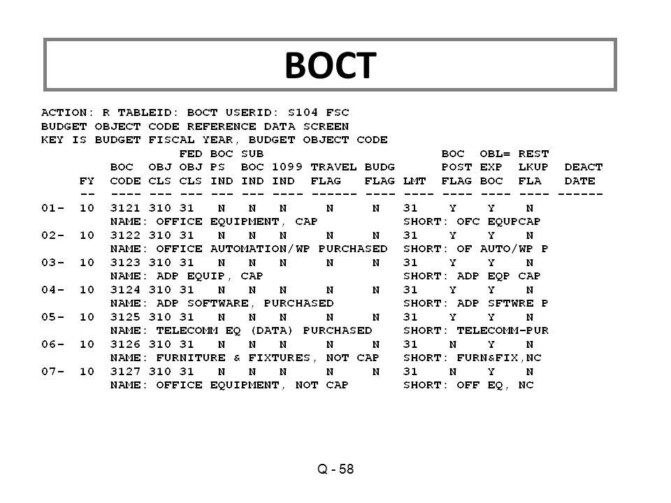 BOCT Q - 58